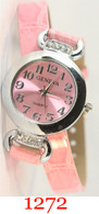 1272 Geneva Ladies Leather Wrap Watch