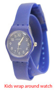 Geneva kids wrap around silicone watch