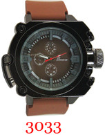 3033 Geneva men's silicone band watch