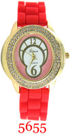 5655 Geneva Ladies Silicone Band Watch