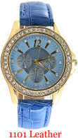 1101 Geneva Ladies Leather Band Watch