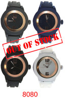 8080 EE Men's silicone band watch