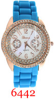 6442 Geneva Ladies Silicone Band Watch