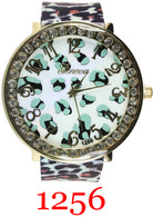1256 Cheetah Ladies Silicone Band Watch