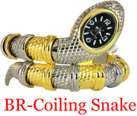 BR Coiling Snake Ladies Bangle Watch