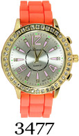 3477 Geneva Ladies Silicone Band Watch