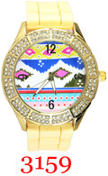 3159 Ladies Bohemian Silicone Band Watch