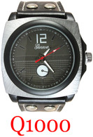 Q1000 Men's Leather Band Watch