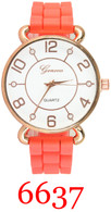 6637 Ladies Silicone Band Watch
