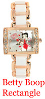 Betty Boop Rectangle Ladies Metal Band Watch
