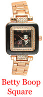 Betty Boop Square Ladies Metal Band Watch