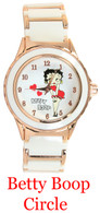 Betty Boop Circle Ladies Metal Band Watch