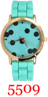 5509 Polka Dots Ladies Silicone Band Watch