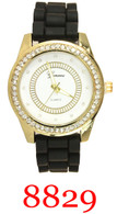 8829 Geneva Ladies' Silicone Band Watch