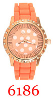 6186 Ladies' Silicone Band Watch