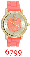 6799 Ladies' Silicone Band Watch
