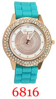 6816 Ladies' Silicone Band Watch