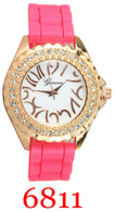 6811 Ladies' Silicone Band Watch