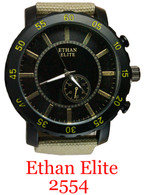 2554 Ethan Elite Canvas Band Watch
