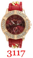 3117 Ladies' Silicone Chain Band Watch