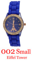 002 Small Eiffel Tower Ladies' Silicone Band Watch