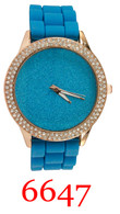 6647 Ladies' Silicone Band Watch
