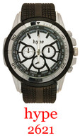2621-hype Men's Silicone Band Watch