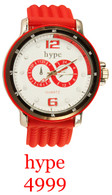 4999-hype Men's Silicone Band Watch