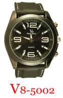 5002-V8 Men's Silicone Band Watch