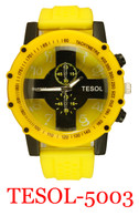 5003-Tesol Men's Silicone Band Watch