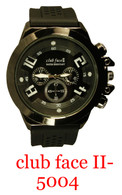 5004-club face II Men's Silicone Band Watch