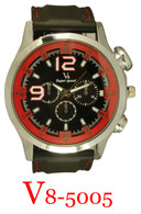 5005-V8 Men's Silicone Band Watch