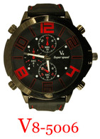 5006-V8 Men's Silicone Band Watch
