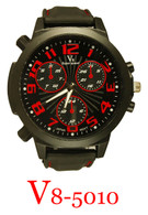 5010-V8 Men's Silicone Band Watch