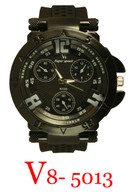 5013-V8 Men's Silicone Band Watch