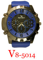5014-V8 Men's Silicone Band Watch