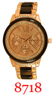 8718-Ladies' Metal Band Watch
