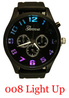 008-Men's light up silicone watch