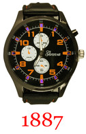 1887- Men's Silicone Band Light Up watch
