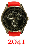 2041-Men's silicone band watch