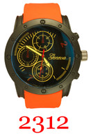 2312-mens silicone band watch