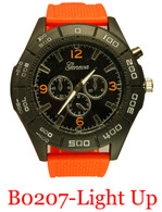 B0207-Men's light up silicone band watch