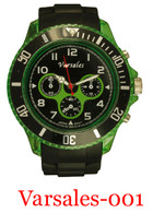 varsales 001-men's silicone band watch