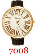7008-ladies leather bad fashion watch
