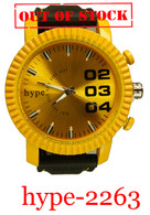 2263 hype Men's Silicone Band Watch