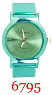 6795-ladies silicone band watch