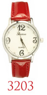 3203-ladies leather band watch