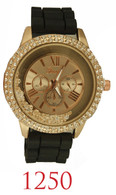 1250-ladies silicone band watch