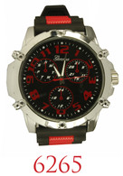 6265-Mens's silicone bullet band watch