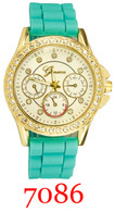 7086 Ladies' Silicone Band Watch